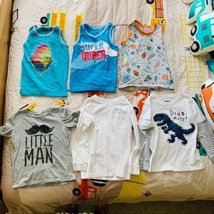Lot of 6 Boys Tops